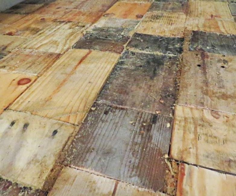 piso parquet casero reutilizando maderas - cubrir con maderas