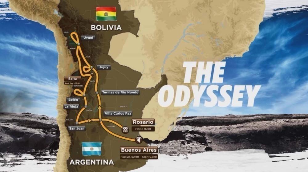 Denuncia al Dakar 2016 por impacto ambiental - ruta prevista