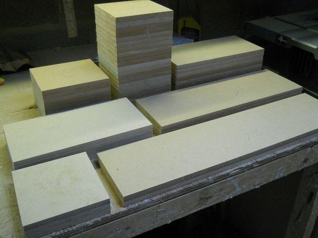 corta las piezas- estantería tetris