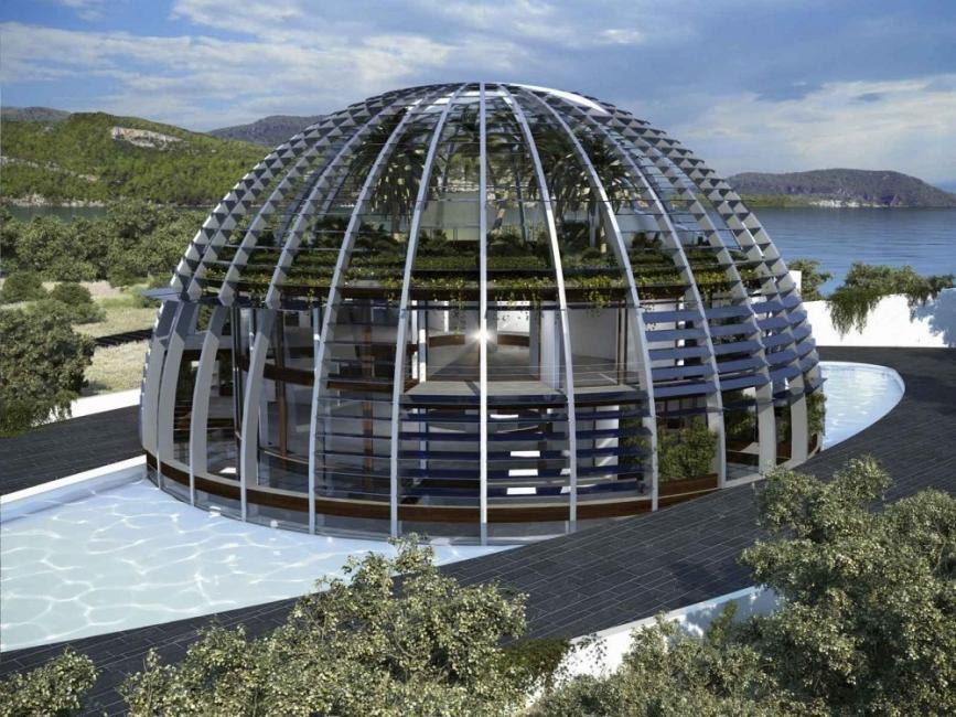 Casa autosuficiente del ojo de horus- sustentabilidad