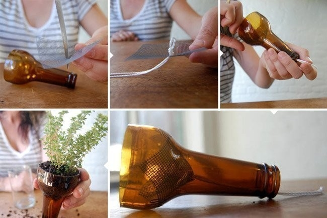 macetas recicladas autorregantes con botellas