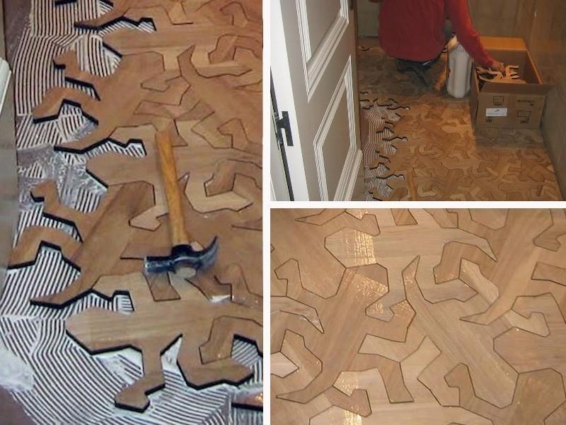 ideas alternativas para redecorar tus pisos - repitil de madera