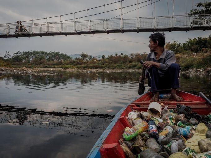 Rio Citarum en Indonesia