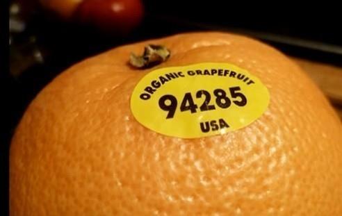 código de etiquetado de frutas
