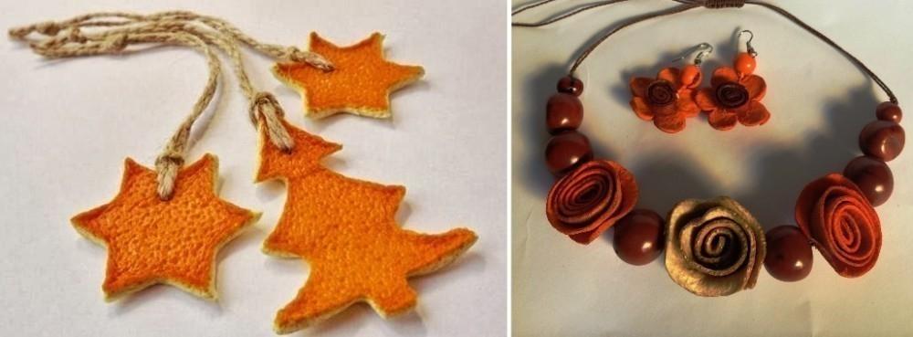 Artesanías con cáscara de naranja- bijou