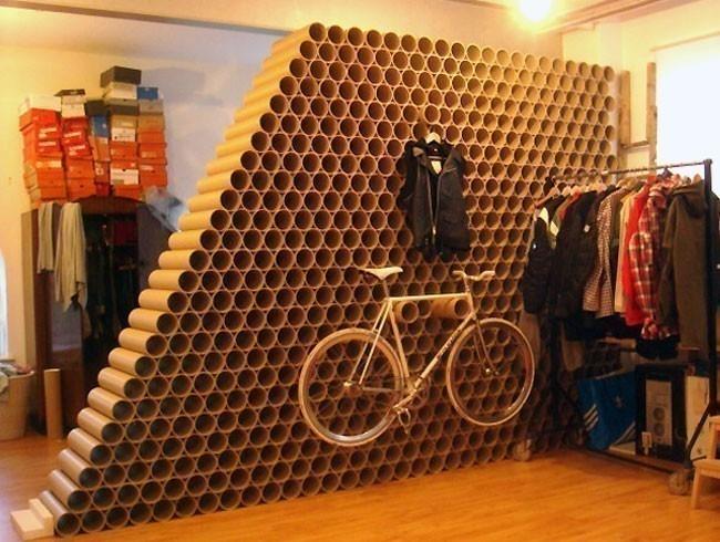 Tubos de cartón - muro