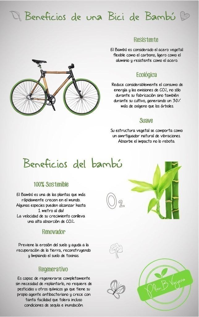 beneficios de una bicicleta de bambú- plan b viajando