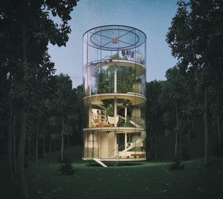 casa del árbol de lujo