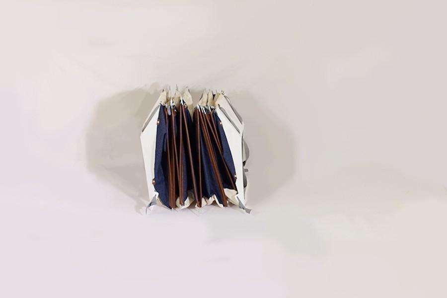 mochila plegable- tienda de campaña