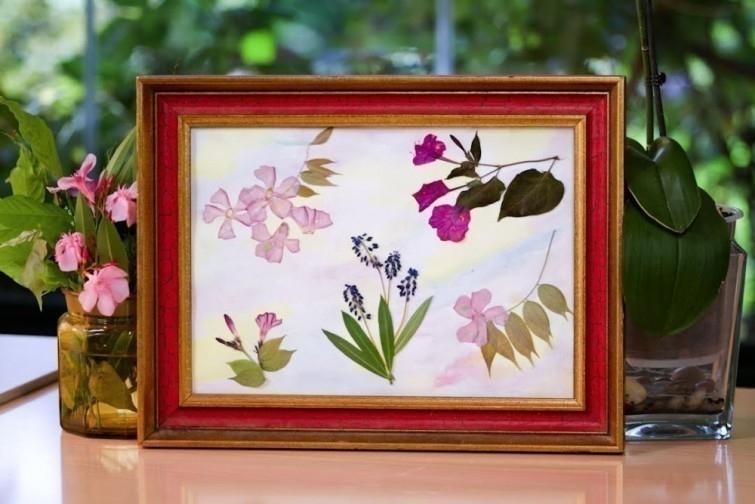 ideas de decoración y reciclaje natural - cuadros flores