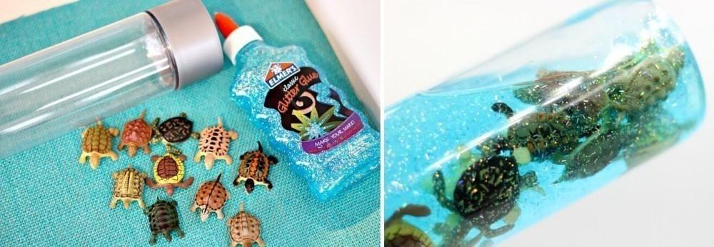 tortugas nadadoras- calma niños