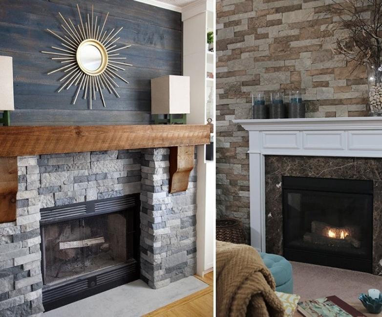 renovar tus espacios con falsa piedra- chimenea