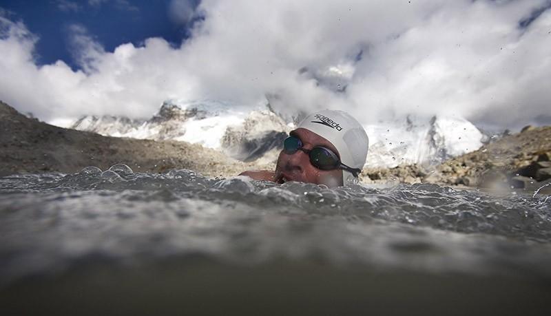 nadar en la antartica
