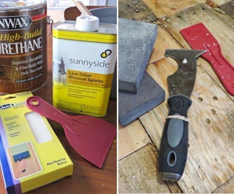 piso parquet casero reutilizando maderas - materiales