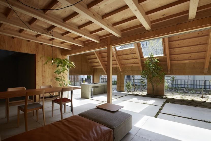 casa exterior en interior- sala