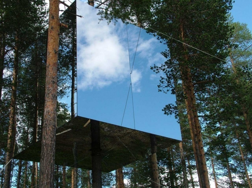 Un innovador eco hotel invisible- tree house
