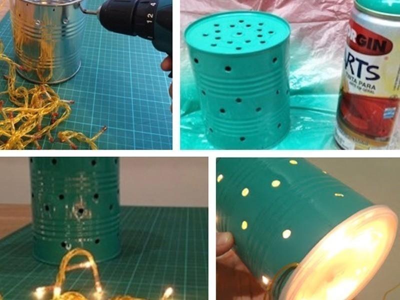lámpara de lata- paso a paso