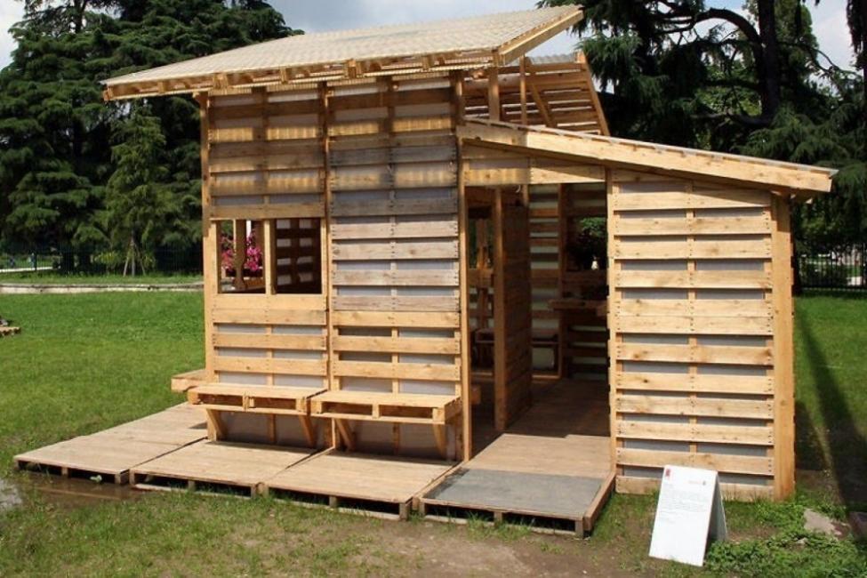 construir una casa con pallets -hogar