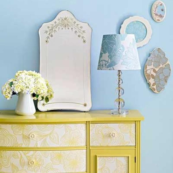 Reciclado de muebles con papeles estampados - Papel pintado muebles ...