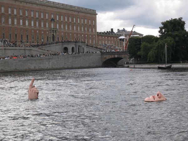 Hombre en el Agua, Estocolmo, Suecia