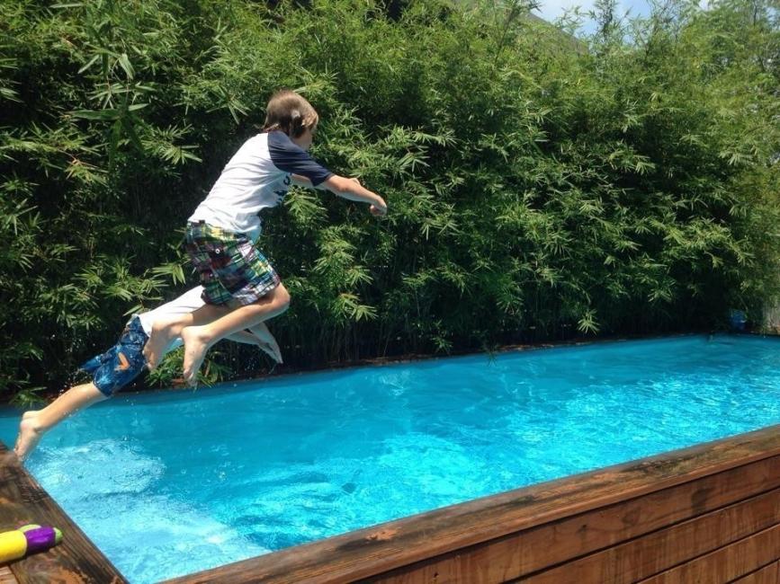 diy piscina contenedor