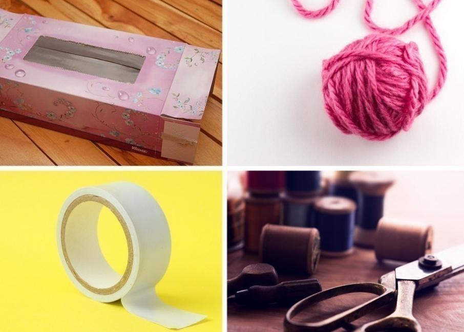 cómo hacer una bufanda sin tejer- materiales