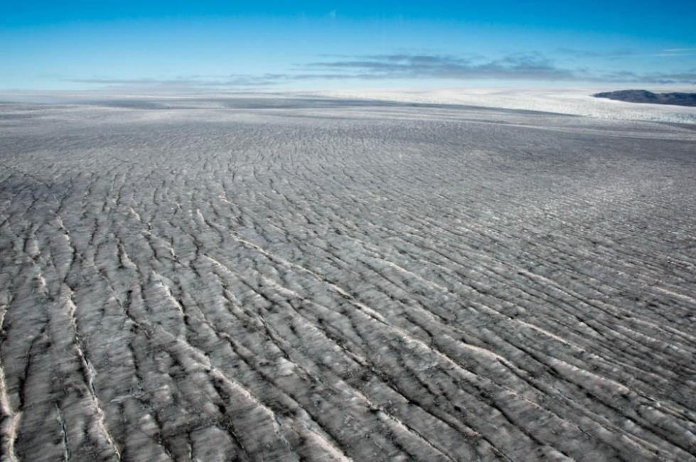 Nieve negra en Groenlandia