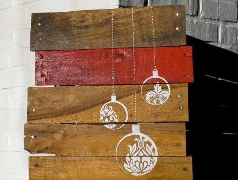 20 ideas navideñas para decorar tu hogar en menos de una hora- pallets