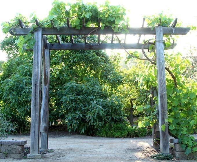 pérgola jardín terminada