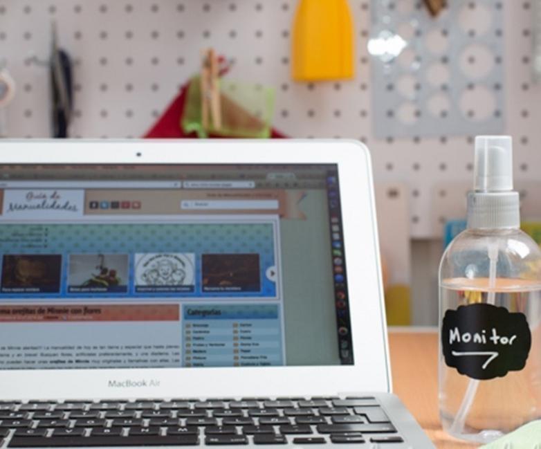 limpiador casero para la pantalla de pc, computadora u ordenador