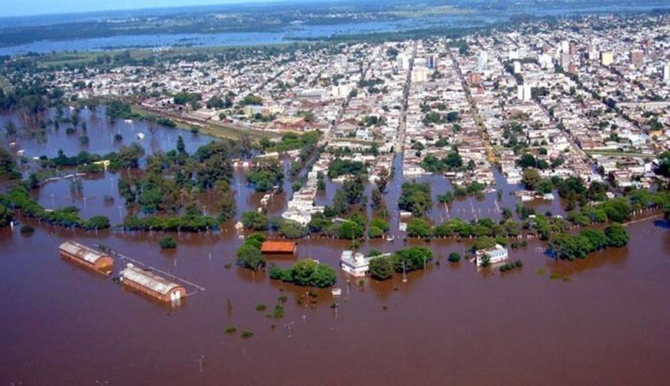 deforestación e inundaciones - concordia bajo agua