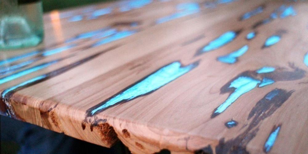 hacer una mesa que brilla en la oscuridad-