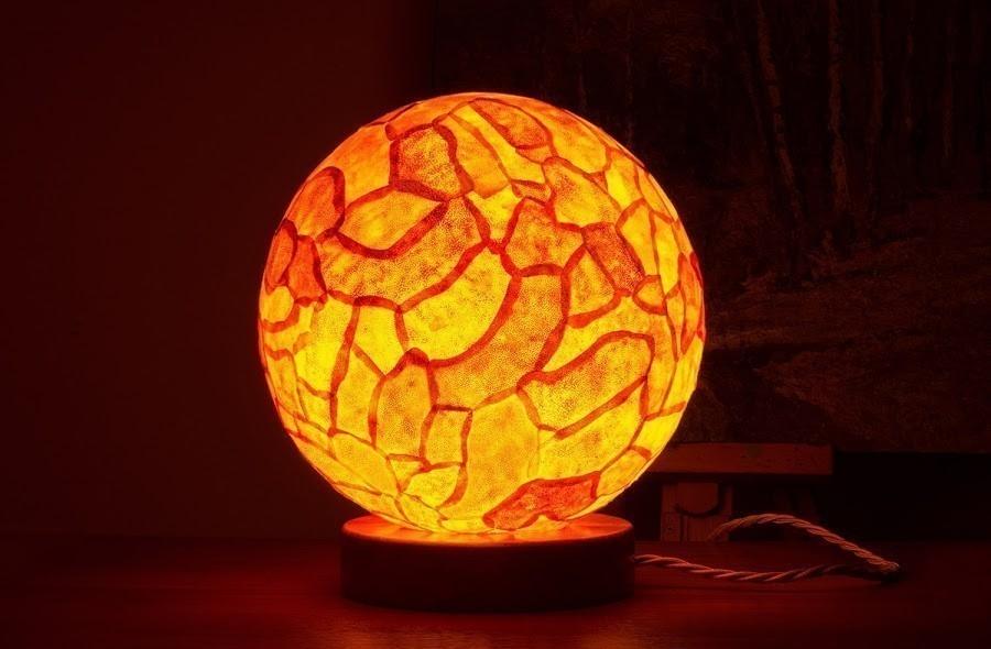 Artesanías con cáscara de naranja- lampara