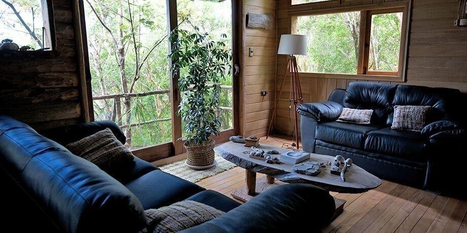 Espejo de Luna Eco Hotel en Chiloé - living