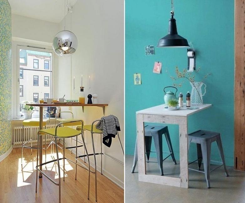 12 ideas para armar una práctica barra en la cocina - montadas a la pared
