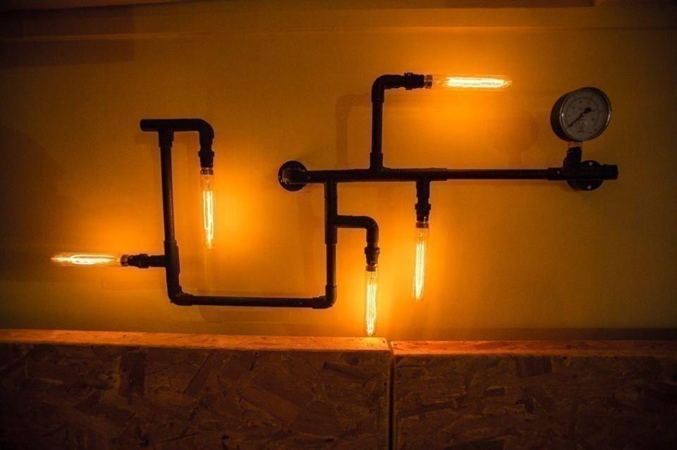 Decoración con caños  - lámparas - iluminación