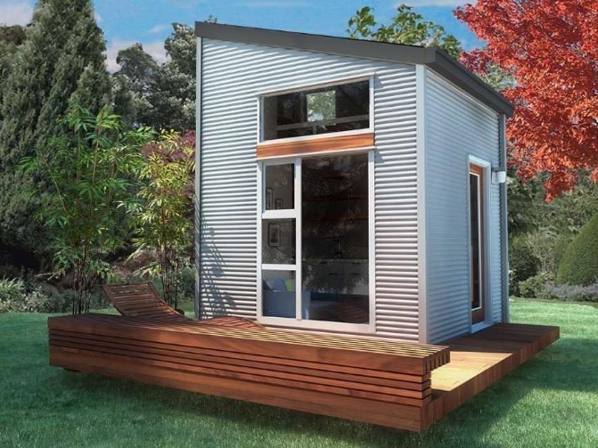 Una casita diminuta para dos, de construcción rápida y barata