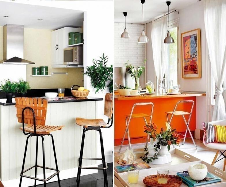 12 ideas para armar una práctica barra en la cocina- muebles