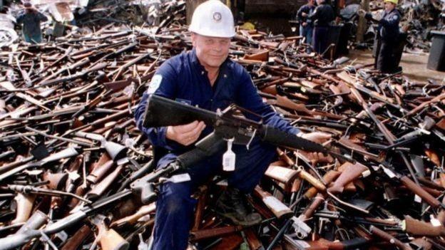 En Australia se lograron sacar de circulación unas 600.000 armas después de la masacre de Port Arthur en 1996