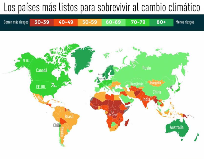 COP21 XXI Conferencia Internacional sobre Cambio Climático - mapa