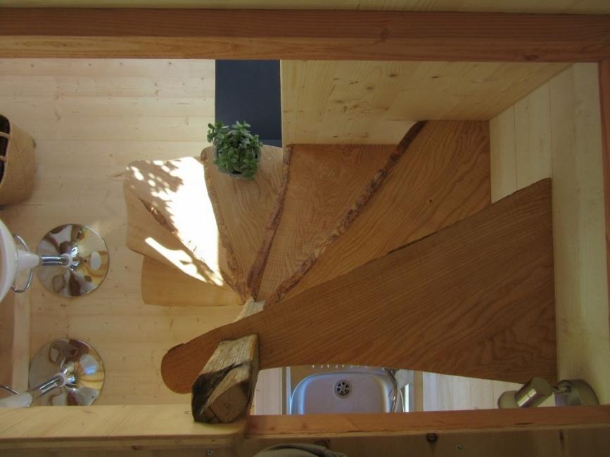 casa rodante- escalera