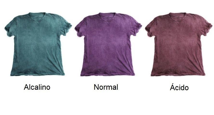 Camisetas que cambian de color con agua contaminada
