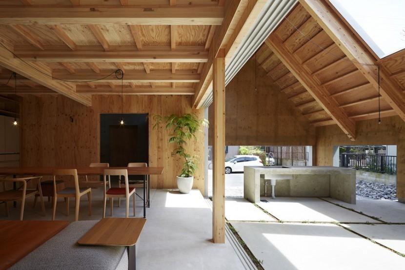 casa exterior en interior- cubierta