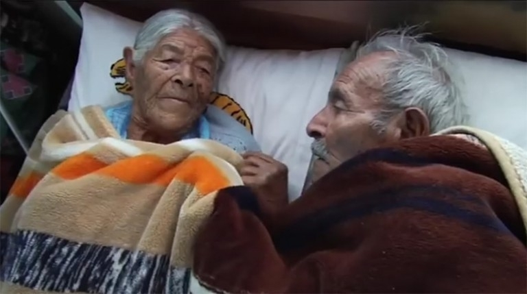 Faustino y Estefanía se casaron hace 85 años