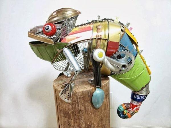 Natsumi Tomita Esculturas Recicladas 4