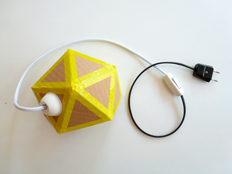 lámpara origami