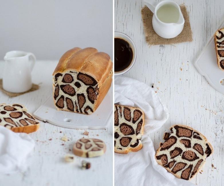 Pan de leopardo - terminado con leche