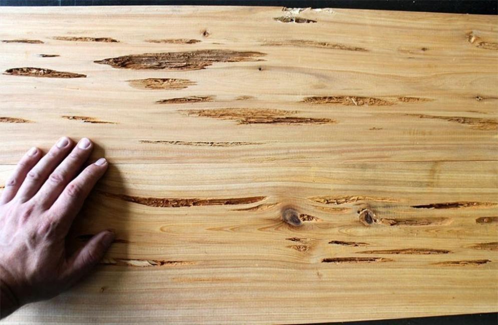 hacer una mesa que brilla en la oscuridad- elegir la madera