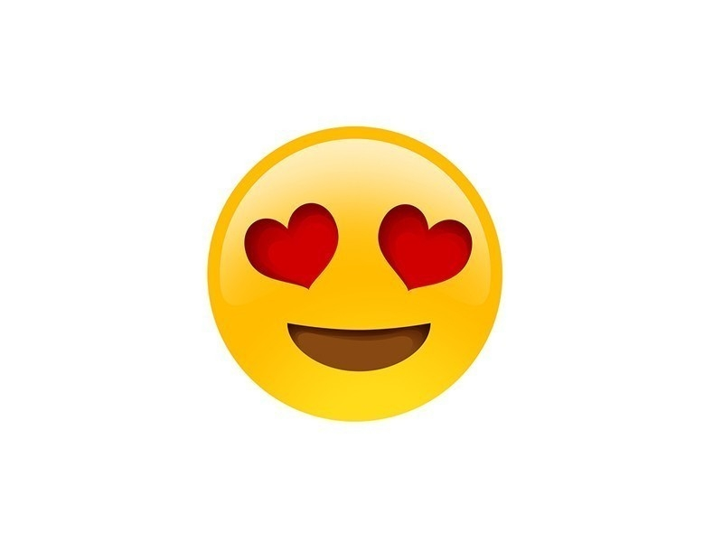 Ojos de corazones- emoji significado