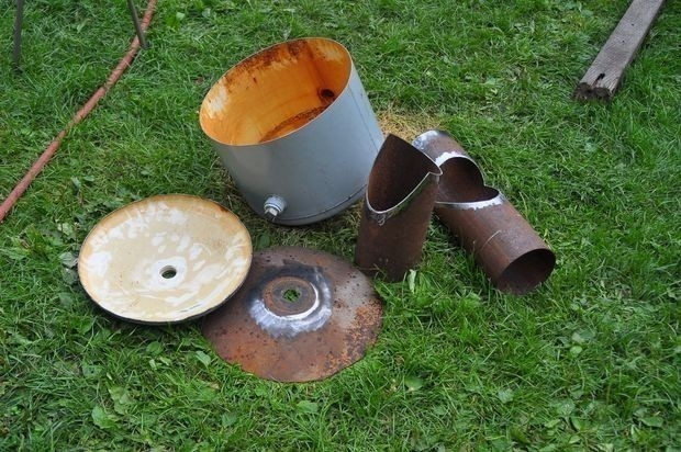 materiales para la estufa rocket